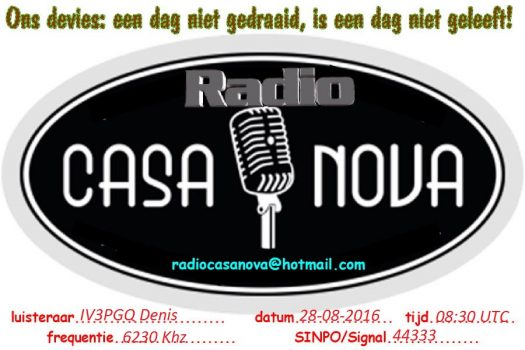 QSL Radio Casanova-1 Denis