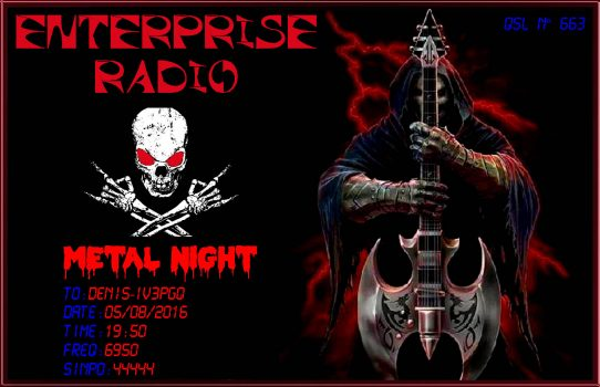 663 Enterprise Radio metal night